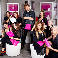 Group of Blo Hollywood stylists glam shot
