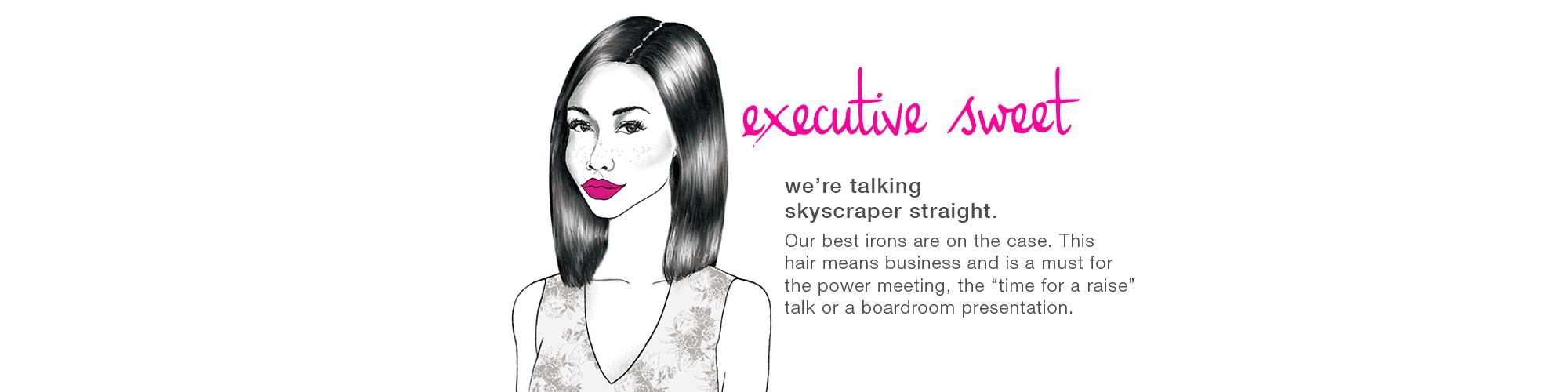 sleek hair style - blo services
