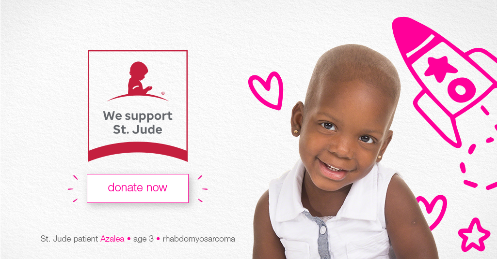 We Support St. Jude Children's Research Hospital. Donate Now.